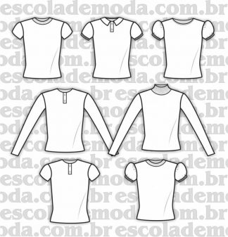 Modelagem de blusas infantis