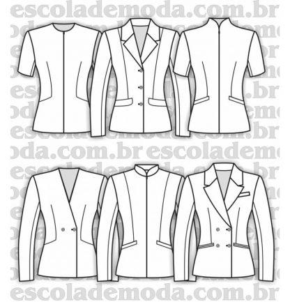 Modelagem de blazers e casaquetos