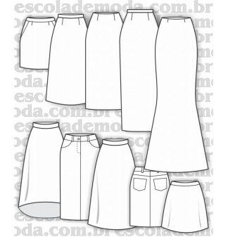 Modelagem de saias