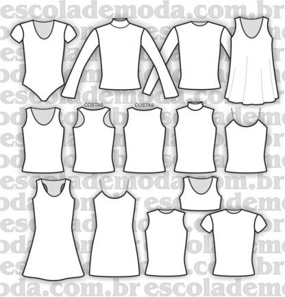 Modelagem de vestidos, blusas e body para a moda infantojuvenil