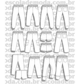 Modelagem de mijãozinho e calças para bebê