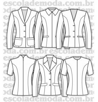 Modelagem de blazers femininos