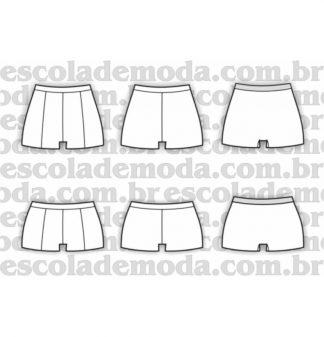 Modelagem de boxers femininos
