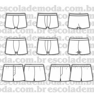 Modelagem de boxers masculinas