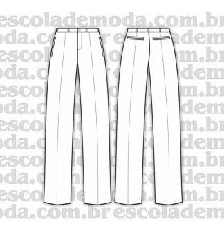 modelagem de calça social masculina