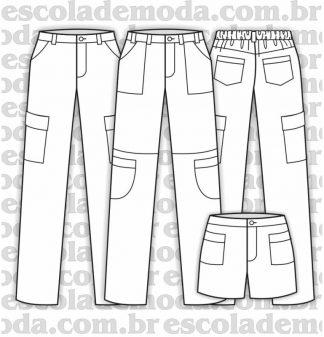 Modelagem de calças infantis