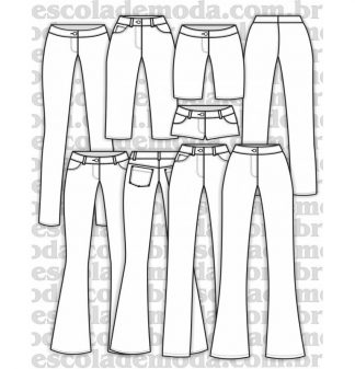 Modelagem de calças justas femininas