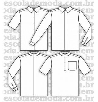 Modelagem de camisas infantis e juvenis