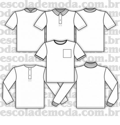 Modelagem de camisetas infantis também para pijama