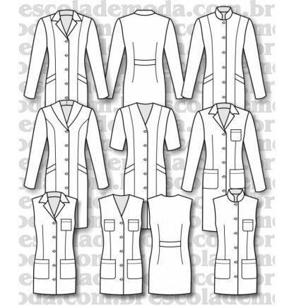 Modelagem de jalecos femininos