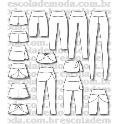 Modelagem de leggings e tapabumbum