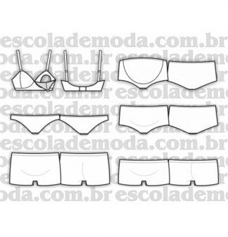 Modelagem de lingerie para gestante
