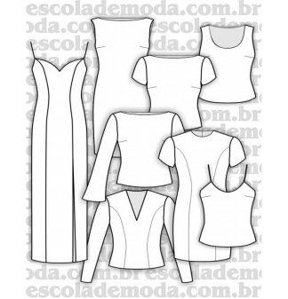 Modelagem de vestidos, blusas e regatas plus size