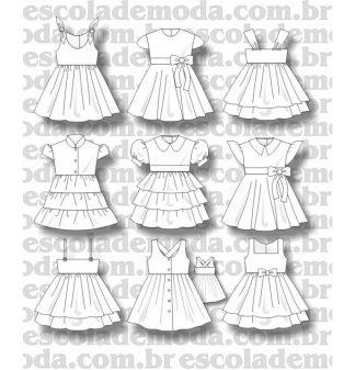 Modelagem de vestidos infantis e para bebê