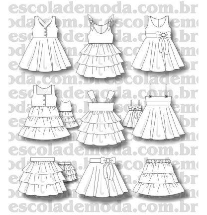 moldes de vestidos infantis