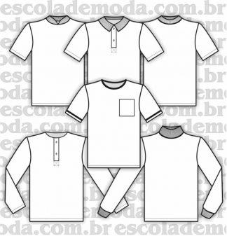 Modelagem de camisetas também para pijama