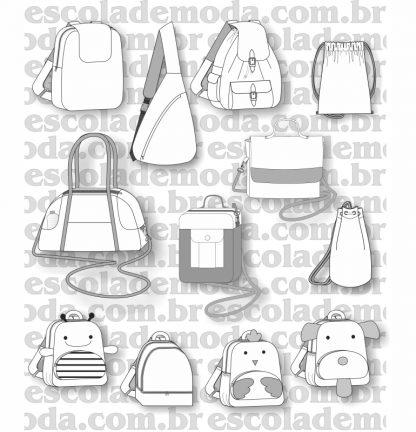 Modelagem de mochilas e sacolas grandes
