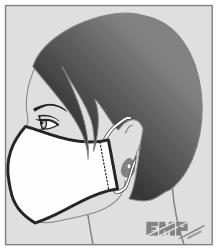 máscara de proteção facial molde - costure